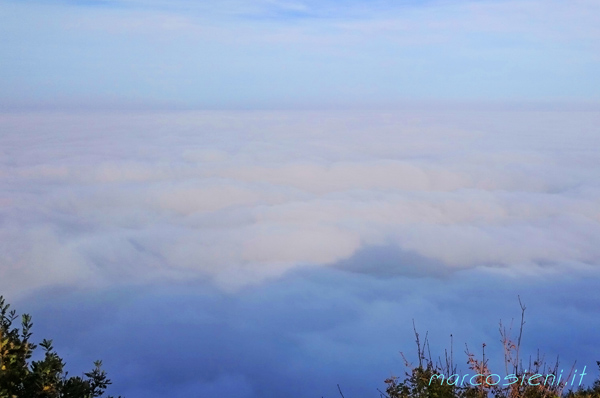San Marino, Titano mountain on the cloud