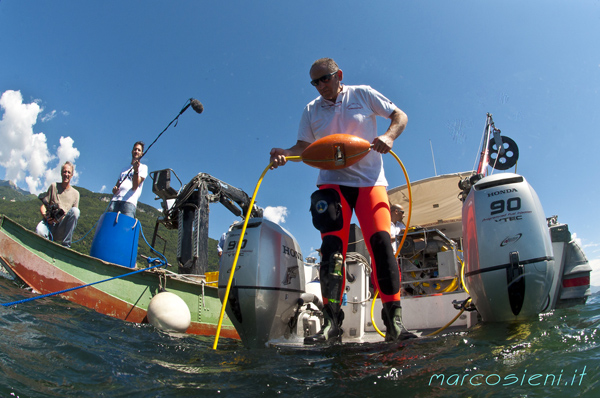 Deep survey in Gravedona, Como lake