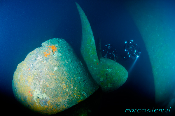 The Haven Propeller.....a big propeller.....and inside the wreck