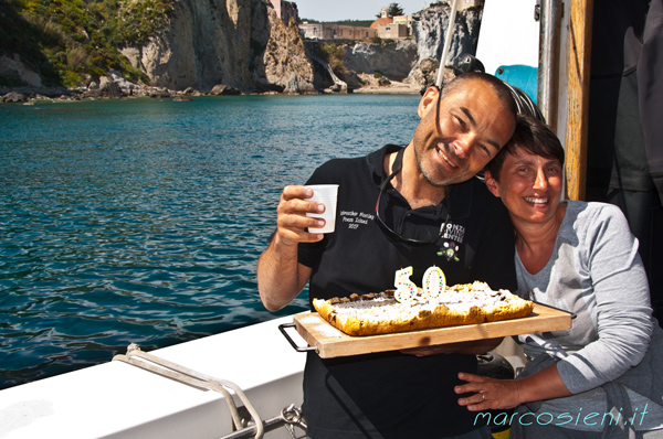 Birthday on Nettuno2, Ponza Diving