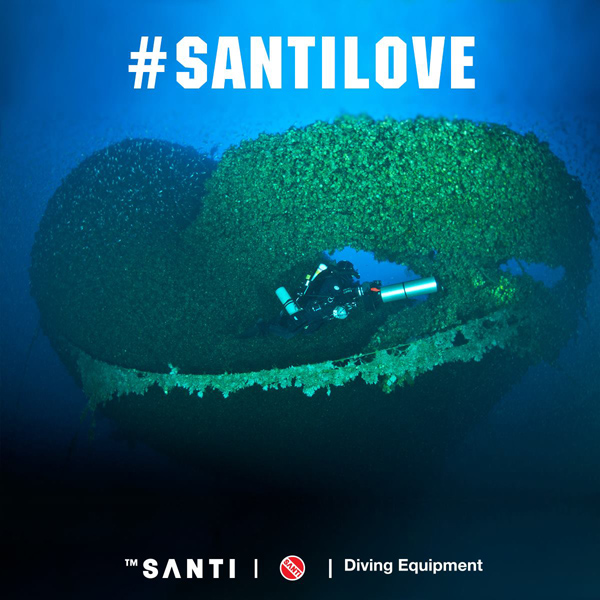 My shot in Santi promotional message