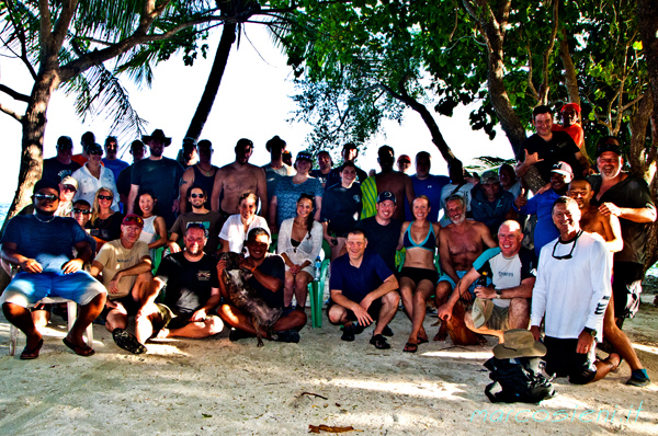 The group - Truk/Chuuk Lagoon - Micronesia with Pete Lust4Rush